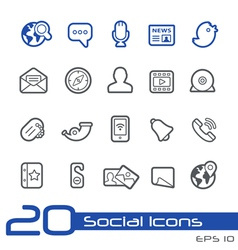 Social Media Outline Series vector image vector image