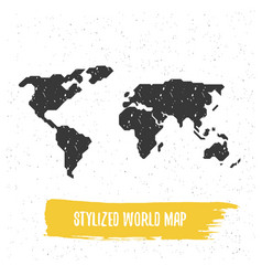 Stylized world map vector