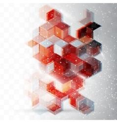 Abstract Design Hexagonal Background vector image vector image