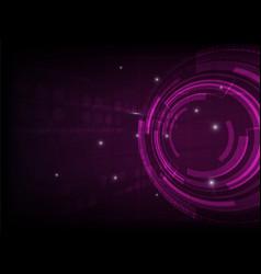 abstract purple circle digital technology vector image vector image