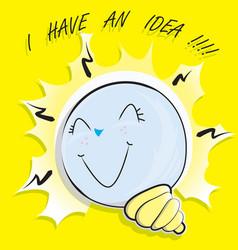 bulb i have an idea vector image vector image