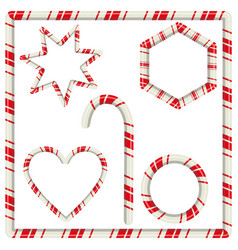 candy cane mint hard striped in christmas colours vector image