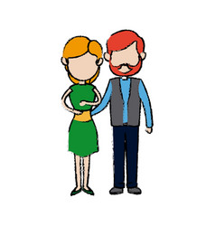 couple father and mother together hugging vector image vector image
