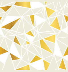 cream and gold foil geometric mosaic vector image
