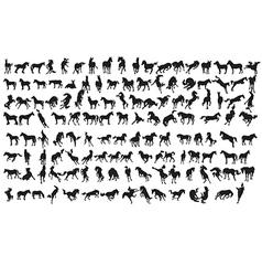 horse set vector image