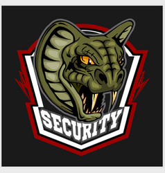 mascot cobra - logo for sport team vector image