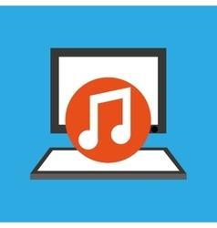 Pc device network music media icon vector