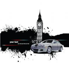 grunge London background vector image vector image