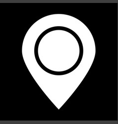 sign location it is icon vector image vector image