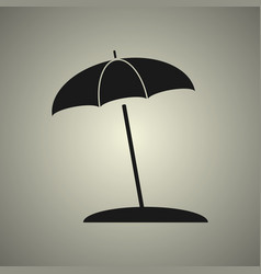 umbrella icon in flat design vector image vector image