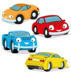 Cute colorful cars vector image vector image