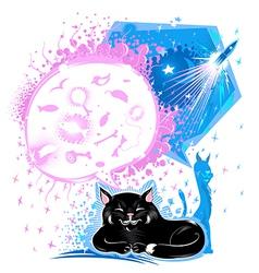 Dreams Of Cats vector image vector image