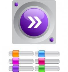 forward arrow color round button vector image