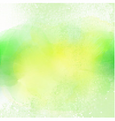 watercolour background with halftone dots vector image