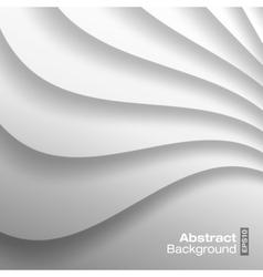 White Wavy background vector image