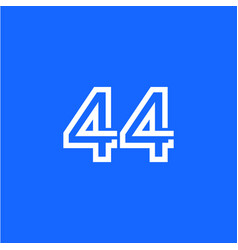 44 years anniversary celebration template design vector