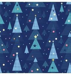 Abstract holiday Christmas trees seamless pattern vector image