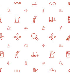 Action icons pattern seamless white background vector