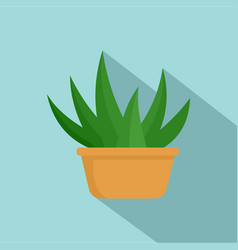aloe room plant icon flat style vector image