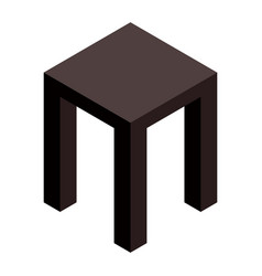 Backless stool icon isometric style vector