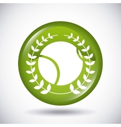 Ball and wreath icon Tennis design vector