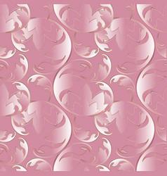 Baroque 3d pink seamless pattern vector