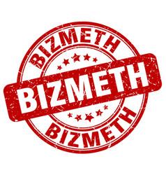 Bizmeth red grunge stamp vector