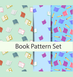 books pattern set vector image