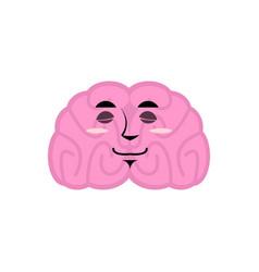 Brain asleep emotion human brains emoji sleeping vector