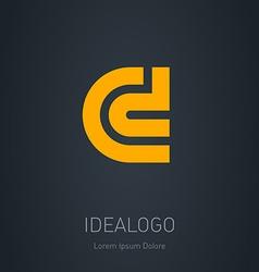 C and D initial logo C and D initial monogram vector