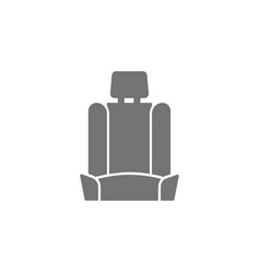 car seat icon vector image