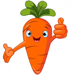 carrot character giving thumbs up vector image