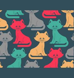cat seamless pattern pet ornament animal texture vector image