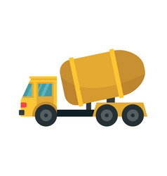 Cement truck icon flat style vector