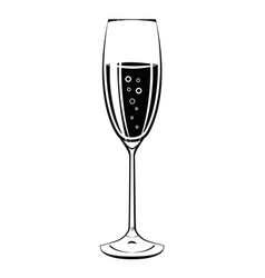 champagne glass icon vintage vector image
