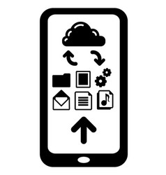cloud service icon vector image
