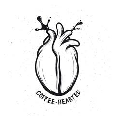 Coffee bean made of human heart Creative vector