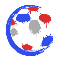 color world cup soccer logo vector image