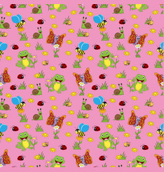 colorful animal pattern vector image