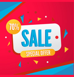 colorful banner for sale season vector image