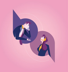 Communications business concept vector