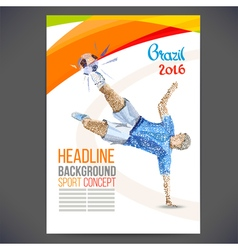 Concept of soccer player vector