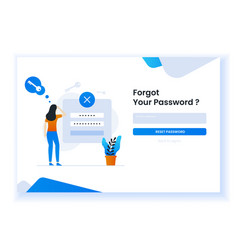 Confused woman forgetting her password for web vector