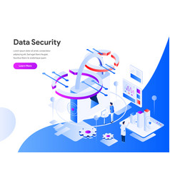 Data security isometric concept modern flat vector