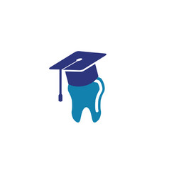 dental education logo vector image