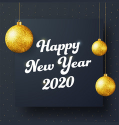 design a square black banner happy new year vector image