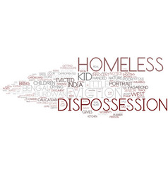 Dispossession word cloud concept vector