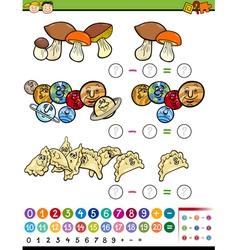 Educational math game cartoon vector