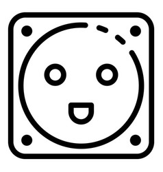 Electric socket icon outline style vector