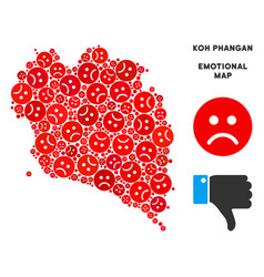Emotional koh phangan thai island map vector